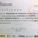 Programa de Formação de Jovens recebe certificado de Tecnologia Social